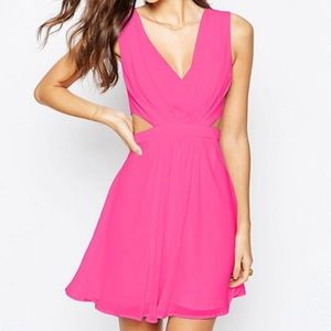 NWT ASOS Pink Side Cut Out Dress size 10